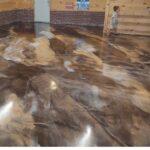 metallic epoxy basement floor