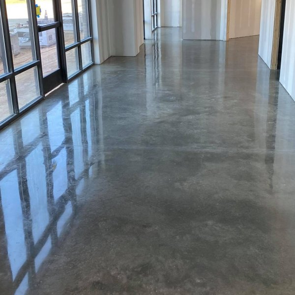 polished concrete entry
