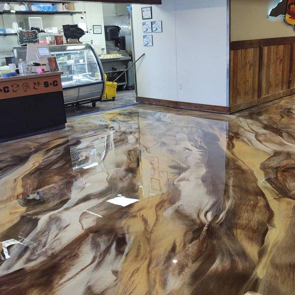 commercial metallic epoxy flooring