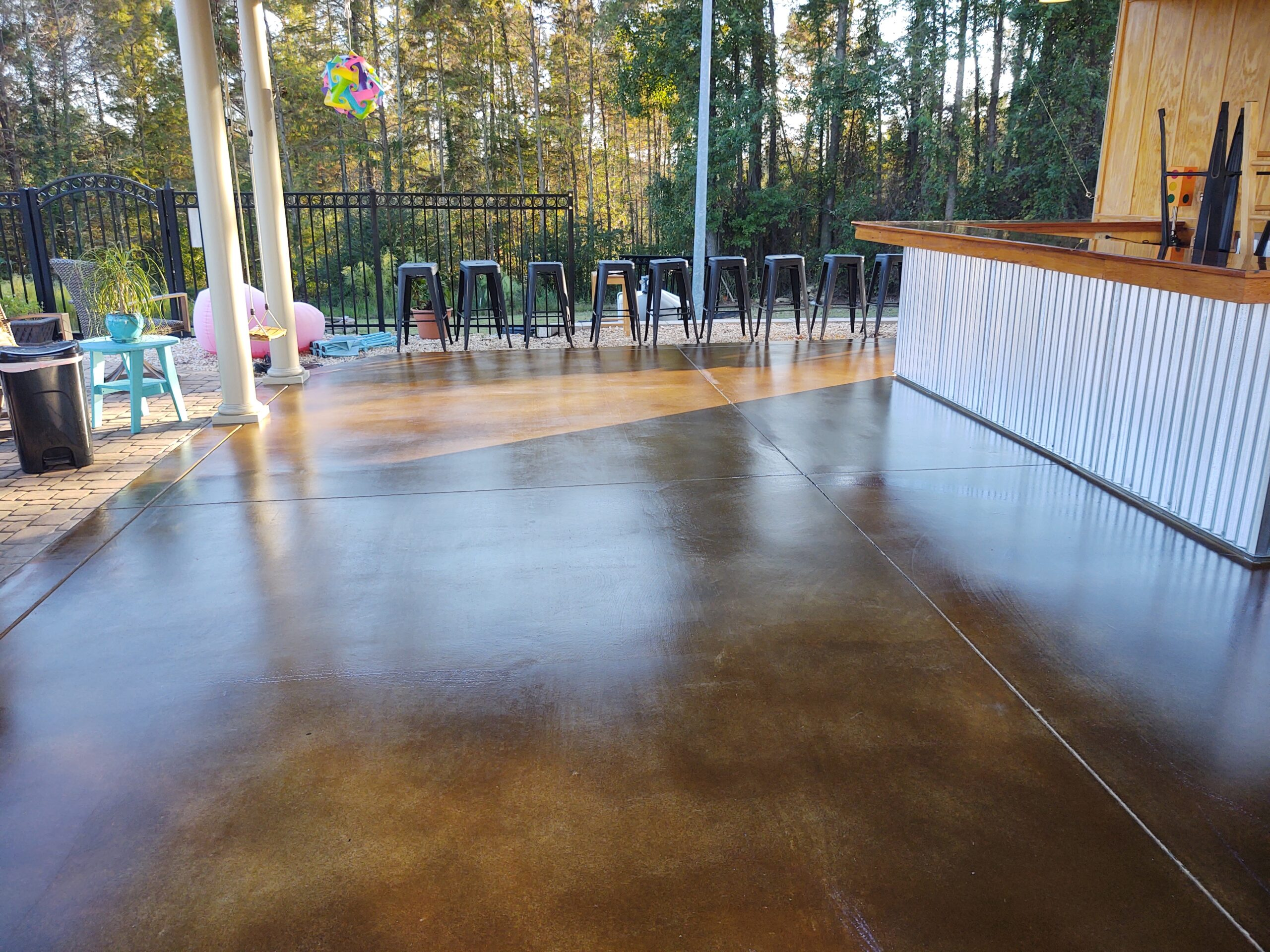 Stained And Sealed Concret